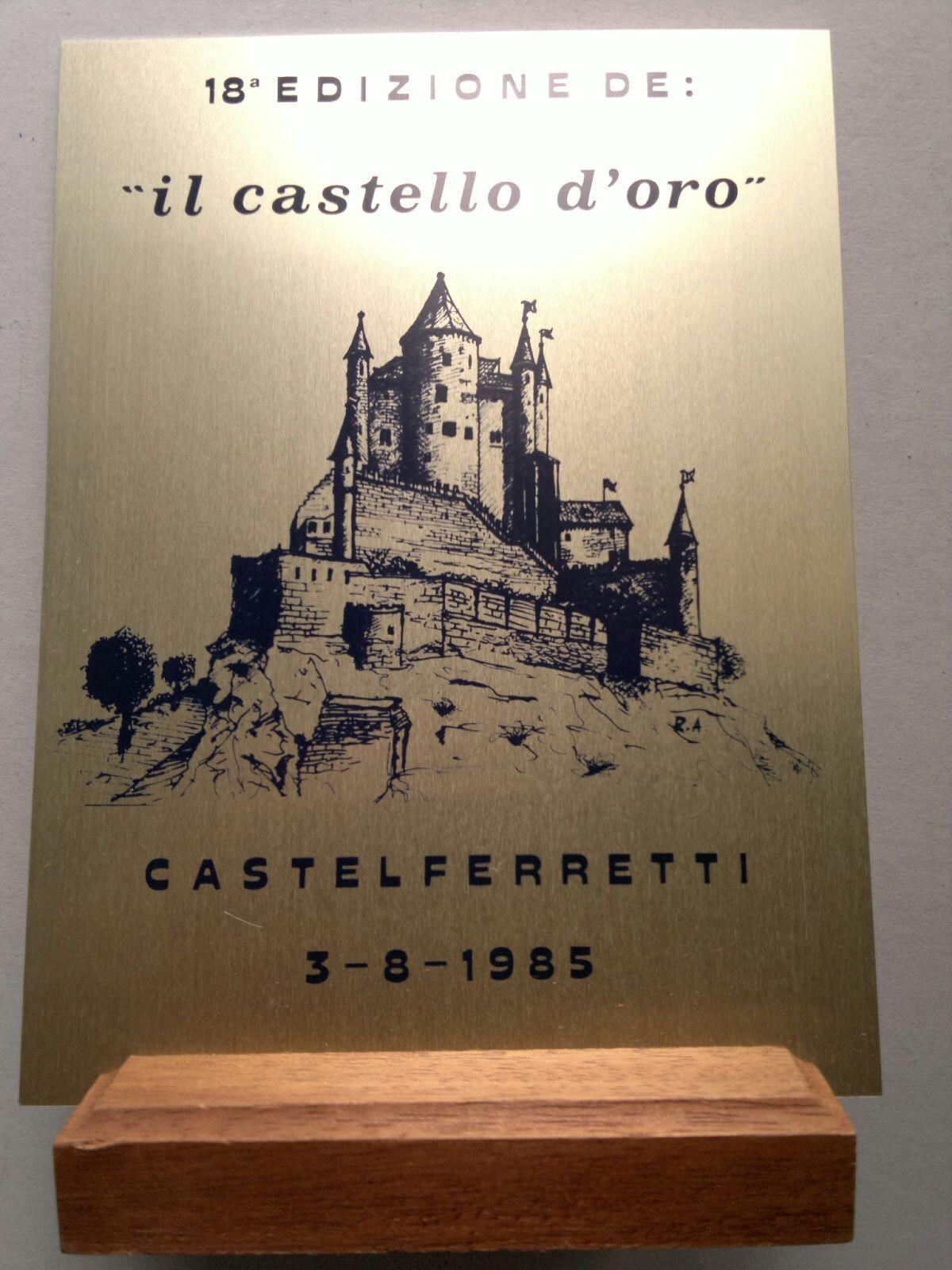 TARGA CASTELLO D'ORO 1985.jpg