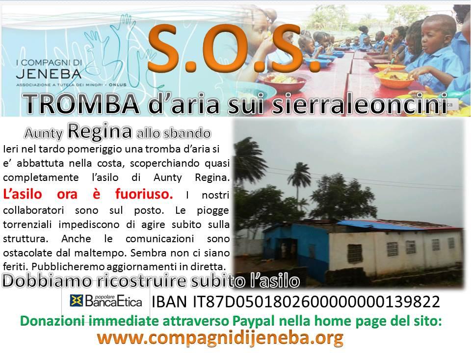 SOS asilo tetto