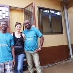 Bockarie e Shabab dello staff in Sierra Leone