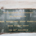 Targa in memoria di Max