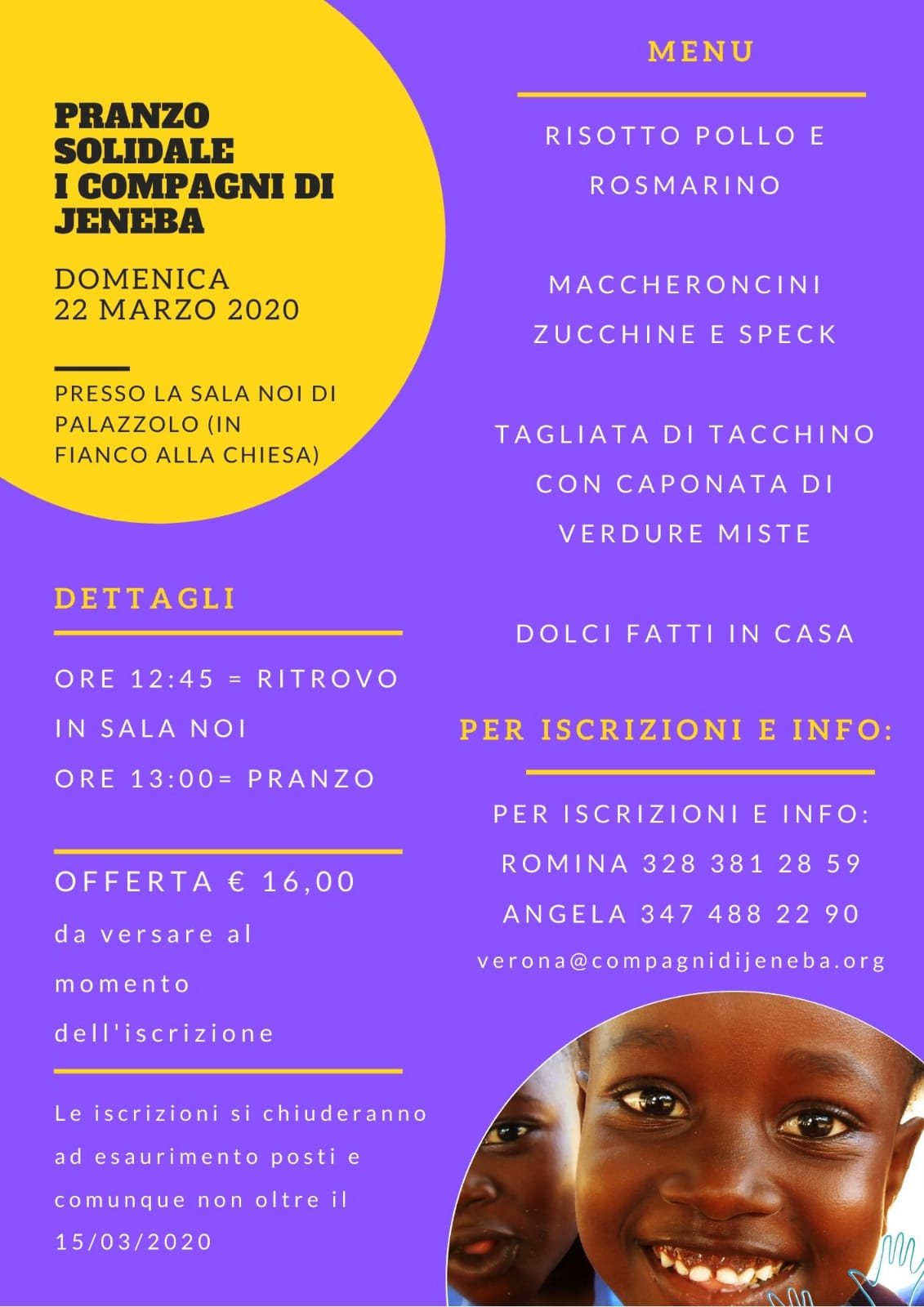 Pranzo Solidale 2020 Verona for Africa